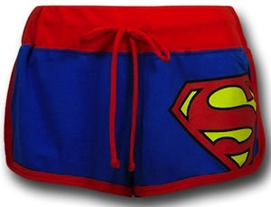 Superman Ladies short shorts