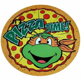 Teenage Mutant Ninja Turtles Pizza Time Wall Clock Thlog