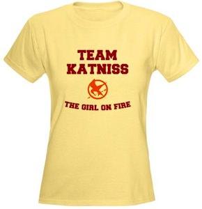 The Hunger Games Team Katniss the girl on fire t-shirt