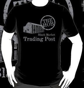 The Hunger Games Black Market Trading Post The Hob T-shirt