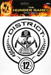 The Hunger Games District 12 sticker