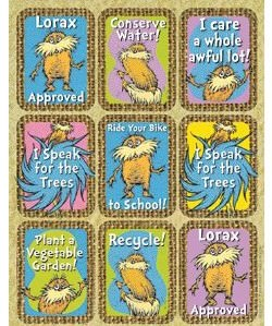 Dr. Seuss The Lorax Giant Stickers