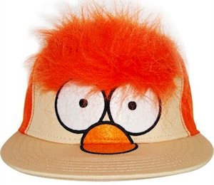 the Muppets hat with Beakers fan and orange hair