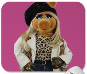The Muppets Miss Piggy Photo Mousepad