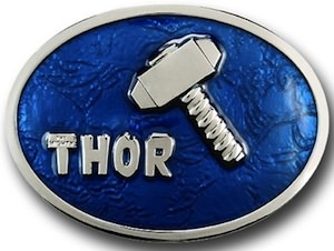 Thor Blue Mjolinir hammer belt buckle