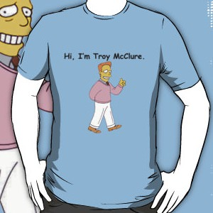 the Simpsons troy McClure t-shirt