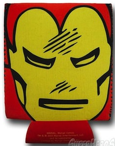 Marvel Iron Man can and bottle hugger koozie