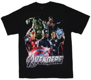 Marvel The Avengers Five Heroes T-Shirt