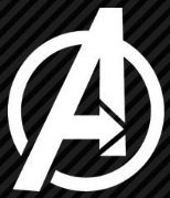 The Avengers logo window decal