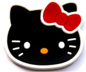 Black Hello Kitty fridge magnet