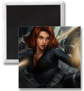 The Avengers Black widow magnet
