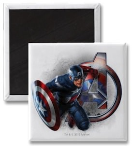 Marvel Captain America magnet with Avengers logo