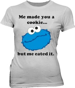 Sesame Street funny Cookie Monster t-shirt for female adults