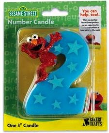 Sesame Street Elmo Number 2 Birthday Candle
