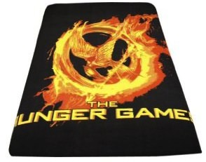 The Hunger Games Fleece Blanket with Mockingjay logo