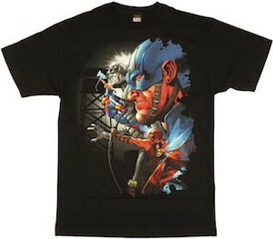 Avengers Crew t-shirt with head shot of captain America
