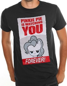 My Little Pony Pinkie Pie Is Watching You T-Shirt for men