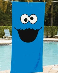 Sesame Street Cookie Monster or Elmo Beach towel