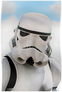 Star Wars poster of a Stormtrooper