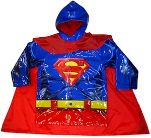 Superman Raincoat with detachable cape