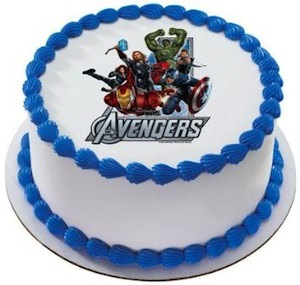 Marvel The Avengers Edible Cake Topper Image