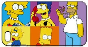 The Whole Simpson family iphone case
