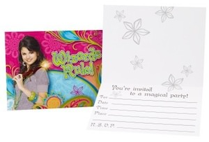 Wizards of Waverly Place invitation cards