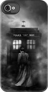 Doctor Who & Tardis In The Mist iPhone And iPod Touch Case