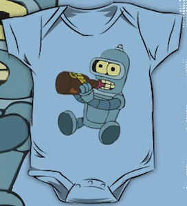 Futurama Baby Bender One Piece Bodysuite