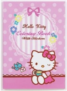 Hello Kitty Coloring pages With Stickers
