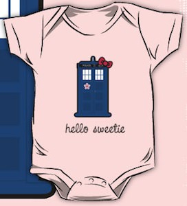 Hello Kitty Meets Doctor WhoTardis Bodysuit
