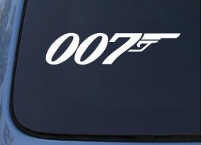 James Bond 007 Window Decal