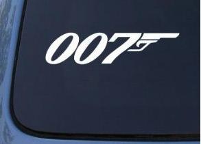 James Bond 007 Window Decal