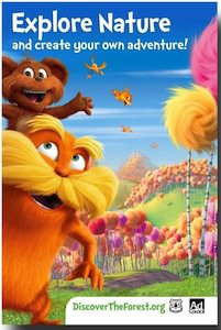 Dr. Seus The Lorax Explore Nature Poster