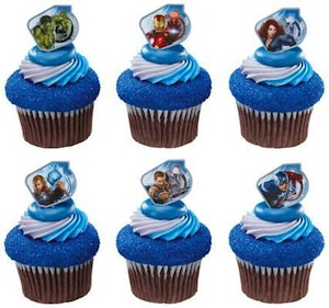 Marvel The Avengers Cupcake rings