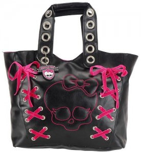 Monster High Lace-Up Tote Bag