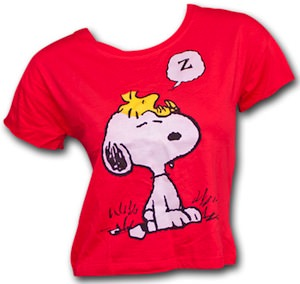 Peanuts Sleeping Woodstock And Snoopy T-Shirt