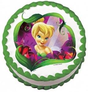 Tinker Bell edible cake topper