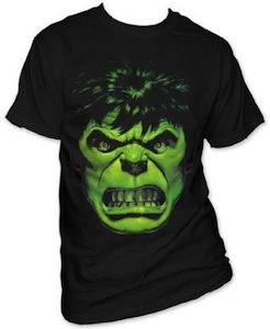 Marvel Angry Hulk Face T-Shirt