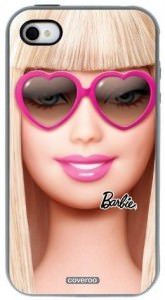 Barbie Heart Sunglasses iPhone 4 4S coveroo case