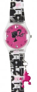 Barbie Watch Pink Poodle Charm