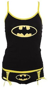 Batman Glow In The Dark Tank Top And Hot Pants Set