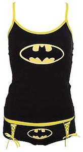 Batman Glow In The Dark Tank Top And Hot Pants Set