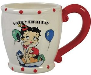 Betty Boop Happy Birthday mug