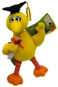 Sesame Street Big Bird Garduation Plush