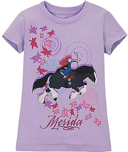 Brave t-shirt with Merida and her horse Angus