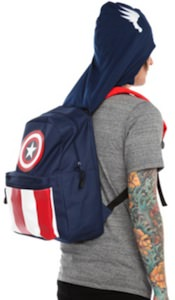 Marvel Captain America Hooded Backpack