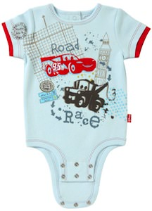 Cars Baby Bodysuit With Mater and Lightning McQueen