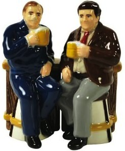 Cheers Norm And Cliff Salt And Pepper Shaker