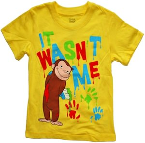 Curious George It Wasn't Me Toddler T-Shirt
